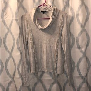 Jessica Simpson cowl neck top with fringe